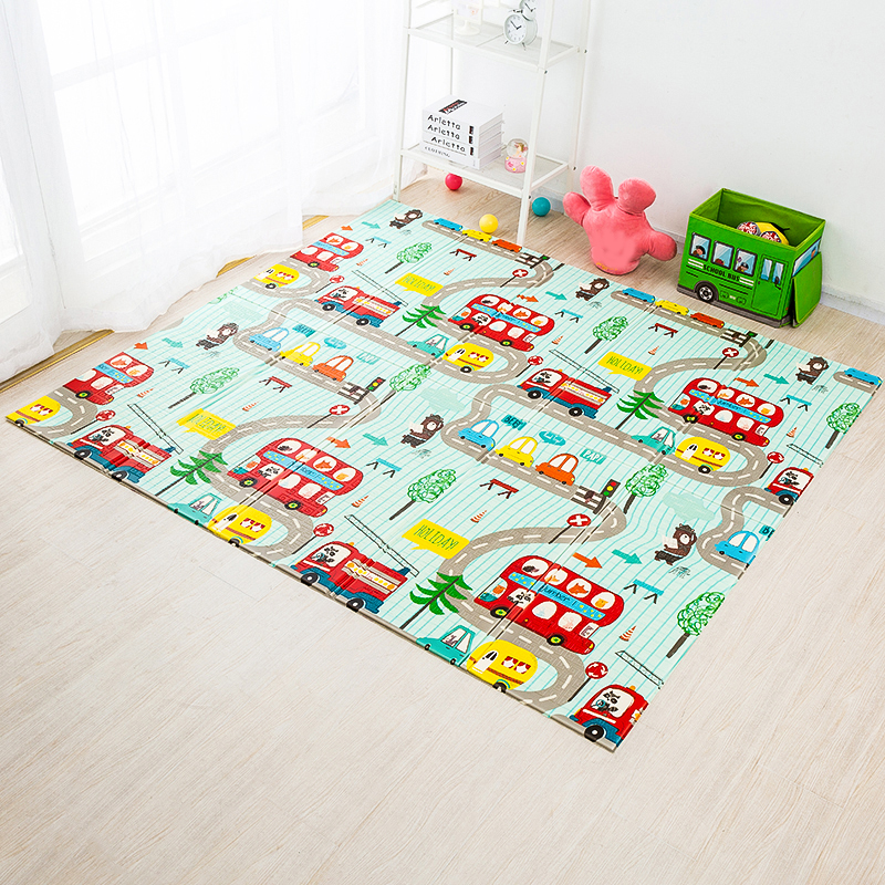 Foldable Baby Play Mat Xpe Puzzle Mat Educational Children's Carpet in the Nursery Climbing Pad Kids Rug Activitys Games Toys 2