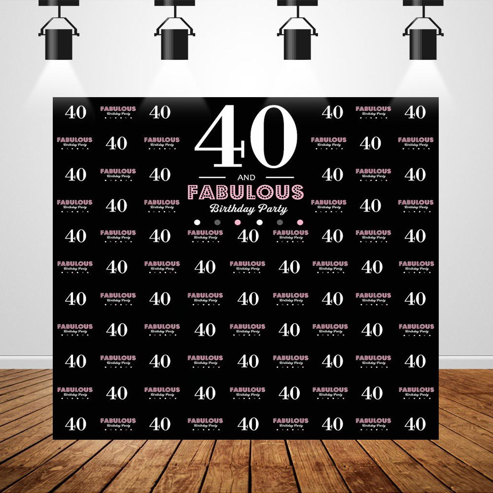 Black and Sliver <font><b>Happy</b></font> <font><b>50th</b></font> <font><b>Birthday</b></font> <font><b>Backdrops</b></font> for Photo Studio Step and Repeat Background Photocall foto hintergrund 220 image