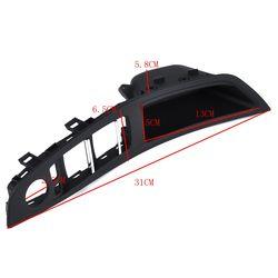 Samochód Auto czarny LHD klamka do drzwi przycisk przełącznika do szyb ramki panelu dla BMW F10 F18 Listwy wewnętrzne    -