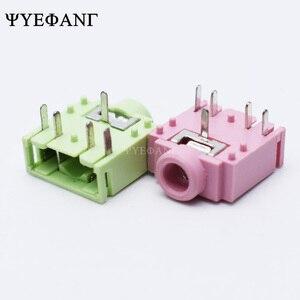 10 шт., стерео разъем PJ307 3,5 мм для печатной платы 3F07-5p, зеленый, розовый, черный