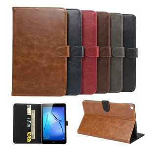 """Luxury Case For Huawei MediaPad T3 8.0 KOB-L09 KOB-W09 Smart Cover Funda Tablet PU Leather For Honor Play Pad 2 8.0""""+Film+Pen(China)"""