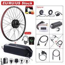 Bafang Motor de buje sin escobillas para bicicleta eléctrica, Kit de conversión de rueda trasera, 48V, 500W, batería Samsung integrada de 17,5 Ah