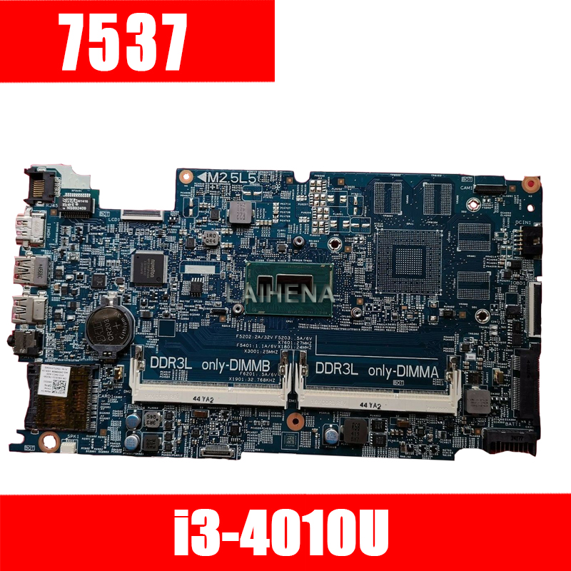 T06GG FOR DELL INSPIRON 7537 laptop motherboard CN-0T06GG DOH50 12311-2 PWB:KJ7NX REV:A00 mainboard I3-4010U NOTEBOOK PC