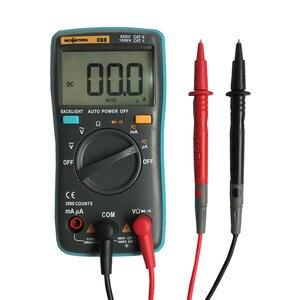 RICHMETERS RM098 Digital Multimeter 2000 zählt Zurück licht AC/DC Amperemeter spannung meter Voltmeter Ohm Tragbare Meter