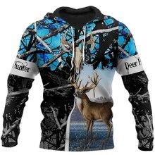 2020 New Hoodie Beutiful deer hunting camo 3D printed Hooded