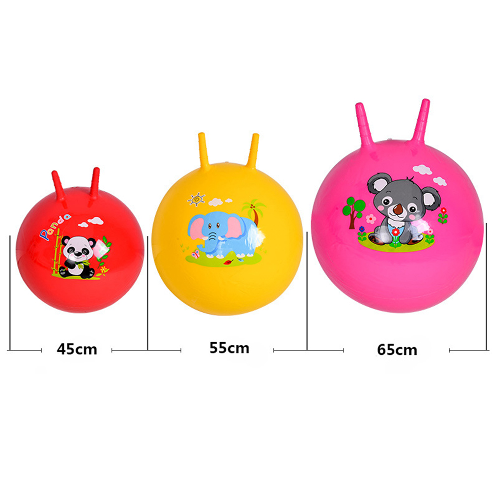 45/55/65CM Educational Inflatable Toy Ball Baby Toys Inflatable Bouncing Balls Claw Handle Ball Kids Jump Games Sports Toys