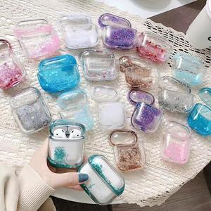 Image 3 - Air pod Case Customized Name Personalized Airpods Blue Glitter Case Personalized Gift Airpod case Cute Air pod bling case cover