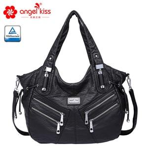 Image 1 - Angelkiss bolsa feminina bolsas de couro do plutônio feminino bolsa de ombro crossbody bolsa de ombro superior alça bolsa bolsa bolsa bolsa