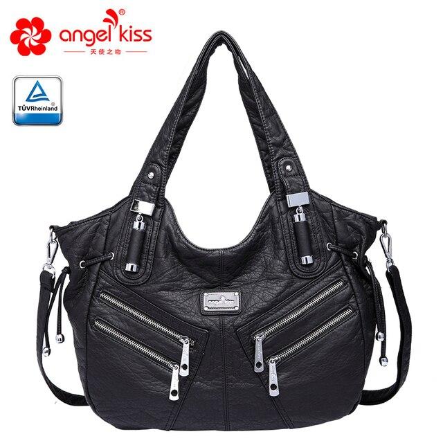 Angelkiss kobiety torebka PU skórzane torby kobiet kluski torba na ramię crossbody Top uchwyt torebki dużego ciężaru torba Bolsa