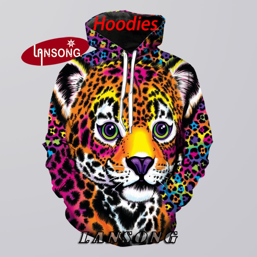 Hoodies 3d Print Lisa Frank Tiger Men Harajuku Funny Sweashirts/pants Jacket Men Short Hooded Homme Clothes Hip Hop Streetwears