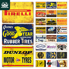 Tire Metal Signs Pla...