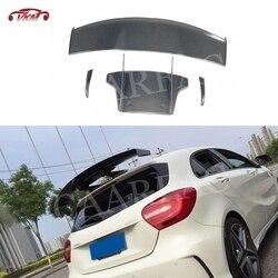 Tylny Spoiler dachowy z włókna węglowego wyścigi samochodowe skrzydła dla mercedes-benz W176 A180 A200 A260 A45 AMG Spoiler 2013-2018 V styl