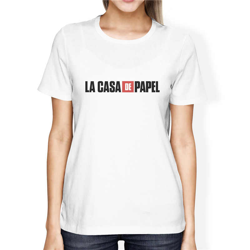 La Casa De Papel odcinek dom z papieru z serii TV śmieszne koszulki z krótkim rękawem kobiety z krótkim rękawem dom z papieru koszulka damska tshirt