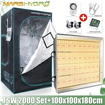 Mars Hydro TSW 2000W LED Grow Light Panel Full Spectrum + 100x100x180cm Grow Kits Tent Hydroponics