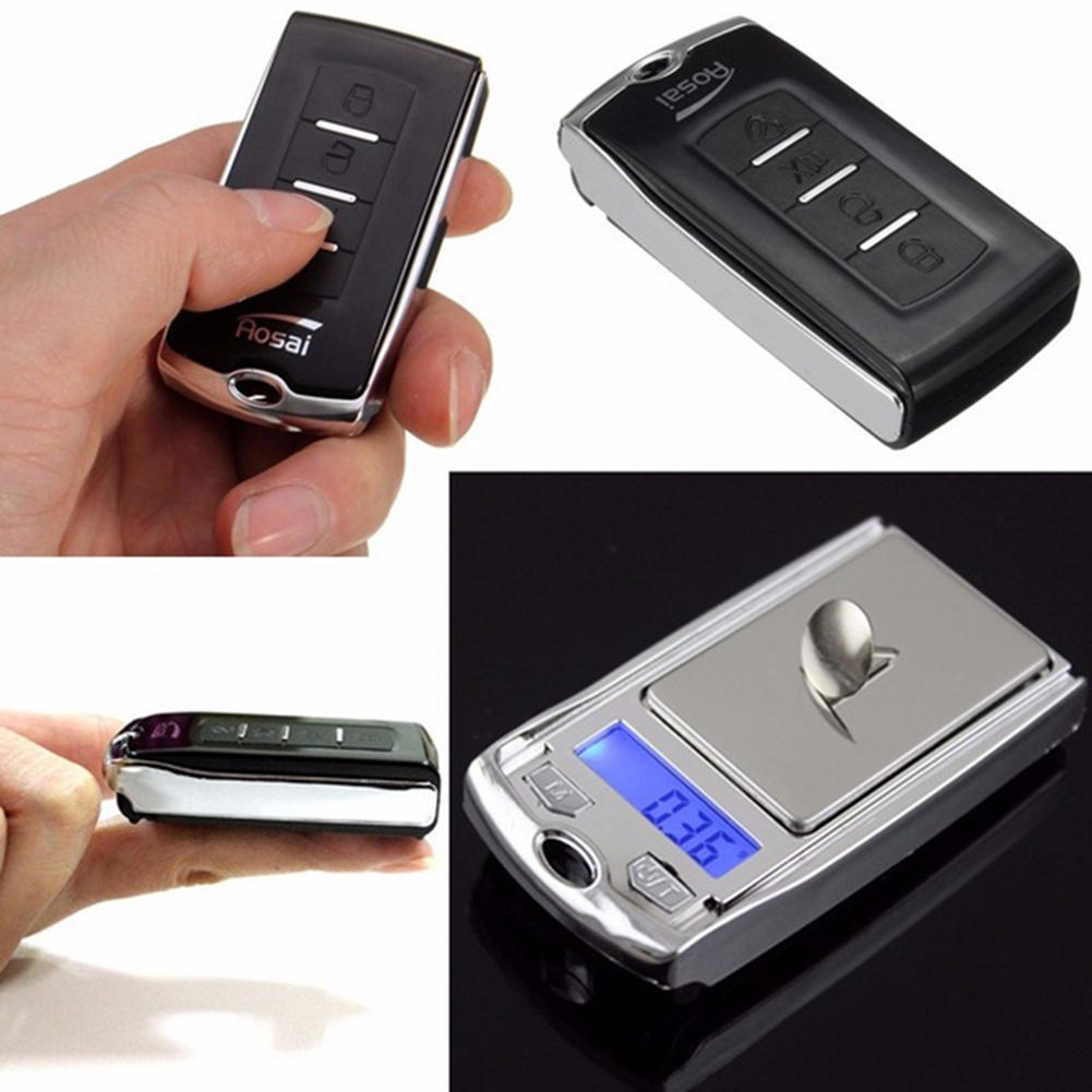 200g/0.01g Mini Digital Scale Portable Scale High Precision Jewelry Electronic Scale Balance Car Key Ring Keychain Kitchen Scale