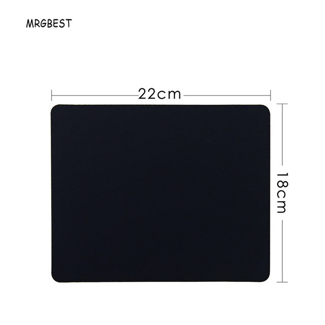 MRGBEST Big Promotion Blank Black Size 22x18cm/20x24cm Mouse Pad S With Natural Rubber Pad With No Locking For Office Desk Mats