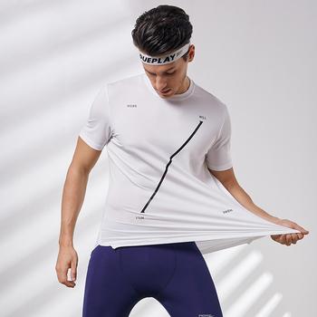 Willarde męskie koszulki sportowe z krótkim rękawem O-Neck bieganie trening koszulki koszykówka tenis koszulki treningowe szybkie suszenie tanie i dobre opinie Wiosna Lato Poliester Pasuje prawda na wymiar weź swój normalny rozmiar 94 Polyester+6 Spandex MA902801-02 Short sleeve