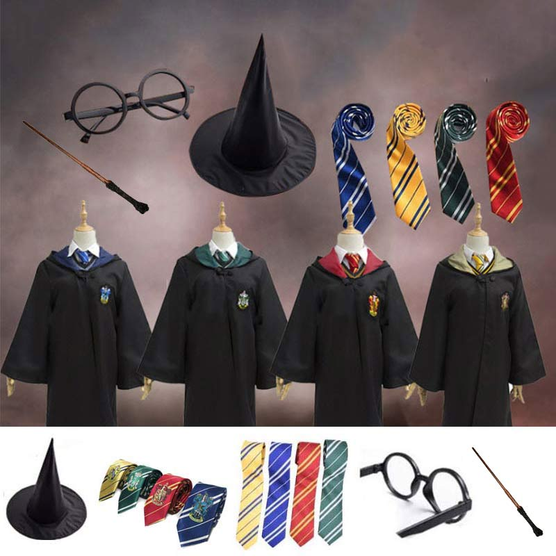 Gryffindor Uniform Hermione Granger Potter Magic Cloak Potter Cosplay Costume Adult Version Halloween Party New Gift