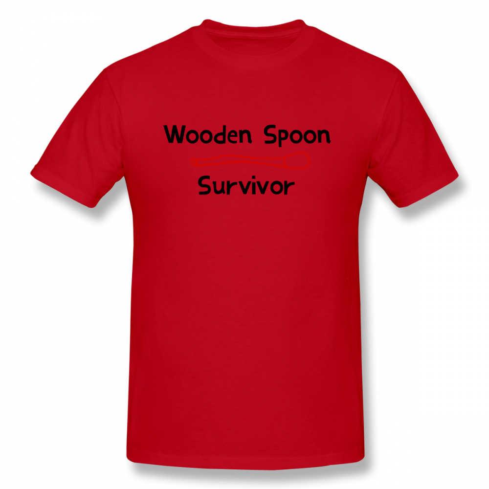 Camiseta de madera con cuchara de supervivencia para hombre, de manga corta Camiseta básica para hombre, camiseta de hip hop para chico y chica, camisetas superiores