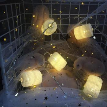Caja de batería de ratán de plástico romántico lámpara LED cadena decoración de Navidad