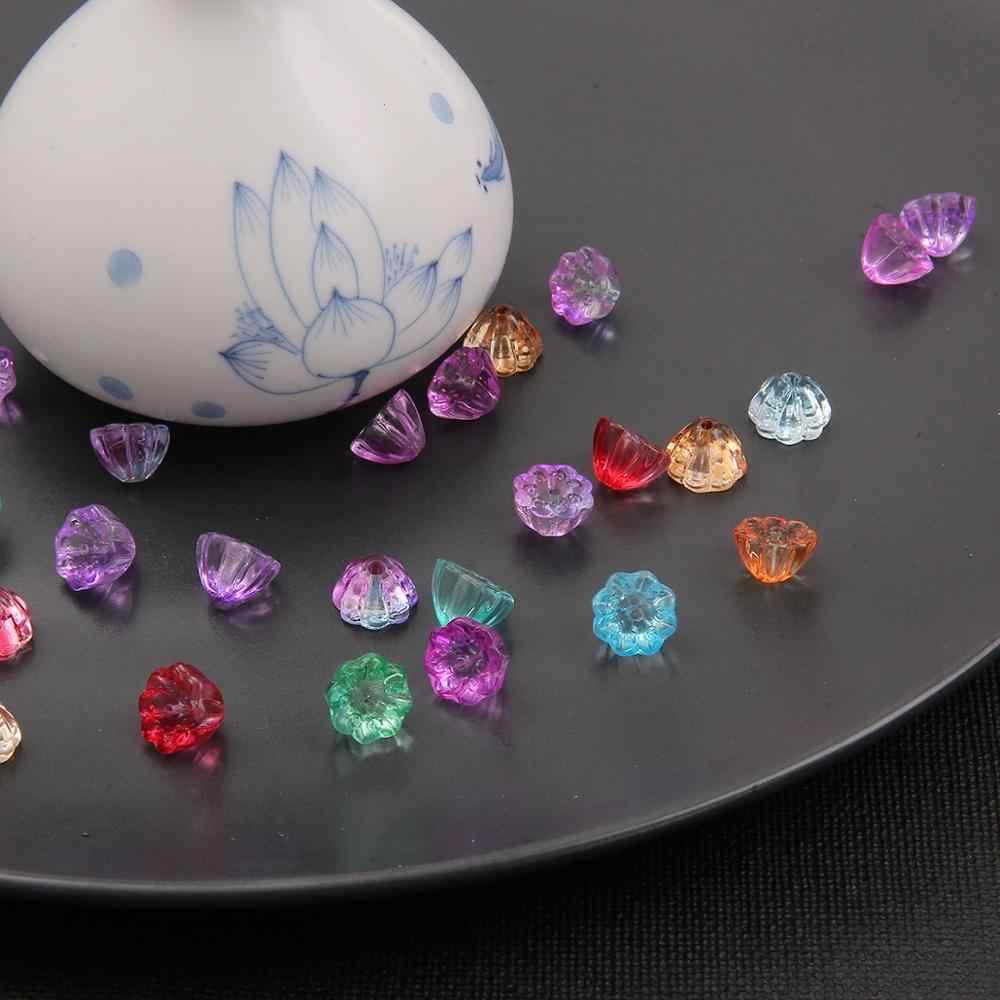 Brillante Cristal Flor 10mm Cristal Clip en Encanto Para Pulsera 6 Colores