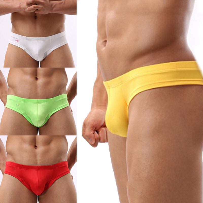 Pouch  Bulge  Man's  G String   Low Waist  Men  U Convex  Underwear  Briefs Thongs