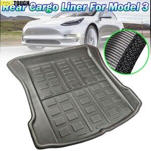 Image 1 - Tailored For Tesla Model 3 BlueStar 2017 2018 2019 Rear Cargo Liner Boot Tray Trunk Mat Luggage FLoor Carpet Tray Waterproof