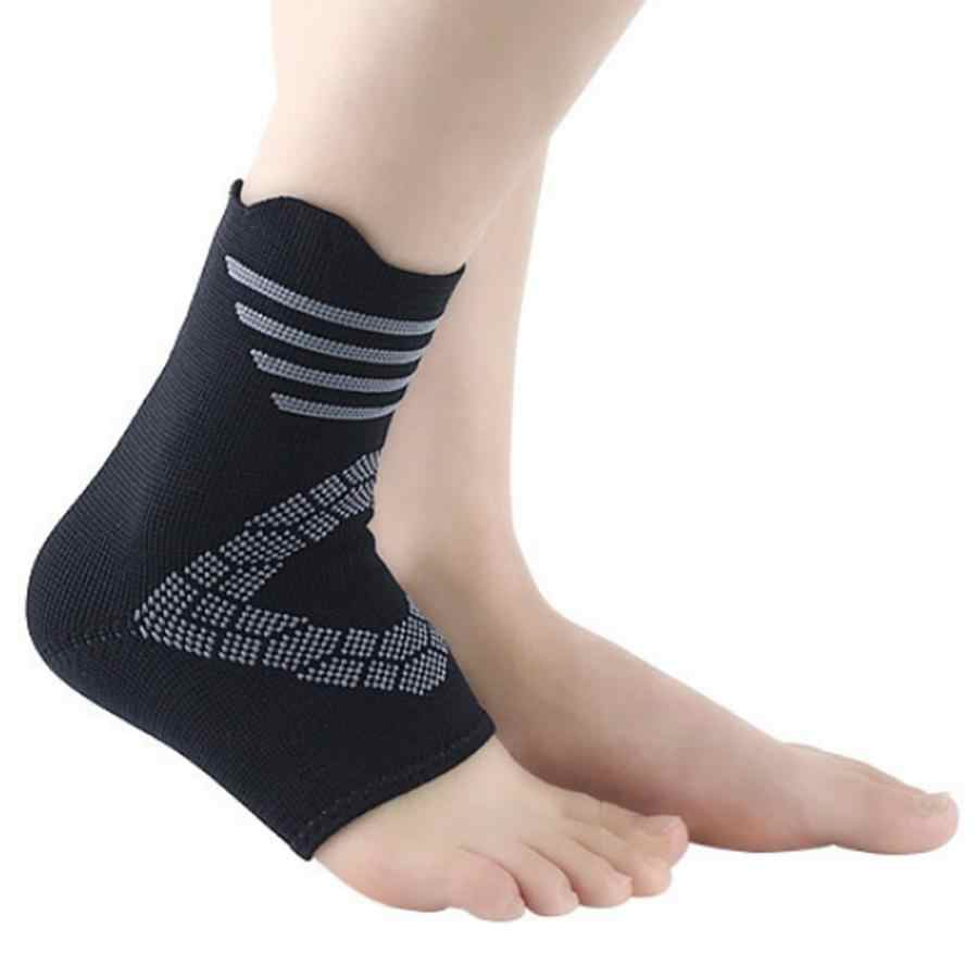 Unisex Knöchel Unterstützung Stabilisator für Fußball Basketball Verstauchung Recovery Ferse Sprunggelenk Klammer Protector Grau Streifen Größe S