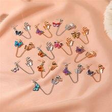 VAGZEB nouvelle déclaration coréenne boucles d'oreilles goutte pour les femmes mode Vintage papillon longues boucles d'oreilles femme bijoux