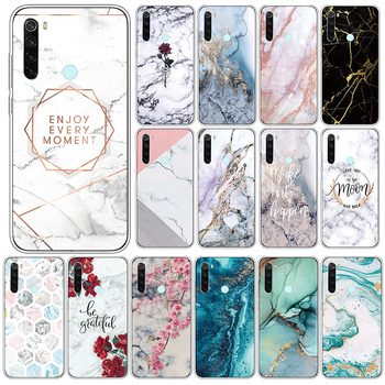 Marble Case For Xiaomi Redmi Note 8 Soft Silicone Back Cover For Xiomi Redmi Note8 6.3 Phone Cases TPU Shockproof Fundas Coque image