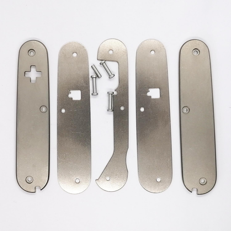 1 пара сделанных на заказ весы из титанового сплава «сделай сам» без штопорта вырезанные для 91 мм швейцарского армейского ножа