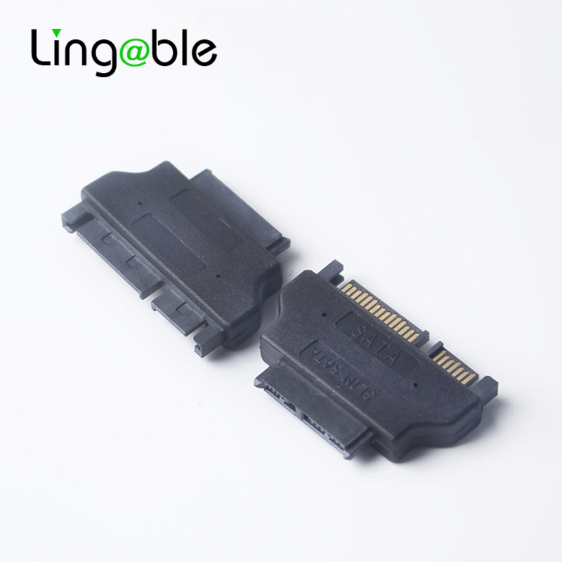 Lingable SATA Adapter Slineline SATA Connector Serial ATA 7+15 22pin Male to Slim 7+6 13pin Female Converter image