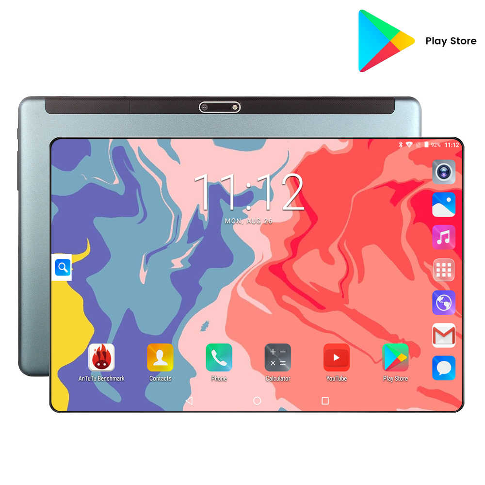 סופר מזג 2.5D זכוכית 4G FDD LTE 10 אינץ tablet pc אוקטה Core 6GB RAM 128GB ROM 1280x800 IPS מסך WIFI אנדרואיד 9.0 GPS