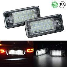 2 pces canbus luz da placa de licença do carro led branco traseiro luzes tag substituição direta 2 ano garantia para audi a3 8p a4 b6 b7