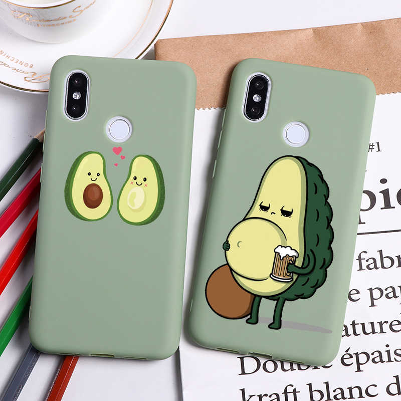 Avocado Cartoon Soft TPU Case For Xiaomi Mi A3 Lite Note 8 7 6 5 K20 Pro 9 9T Pro 4X 8T S2 A1 A2 5X 6X 8 9 Lite SE Explorer Case