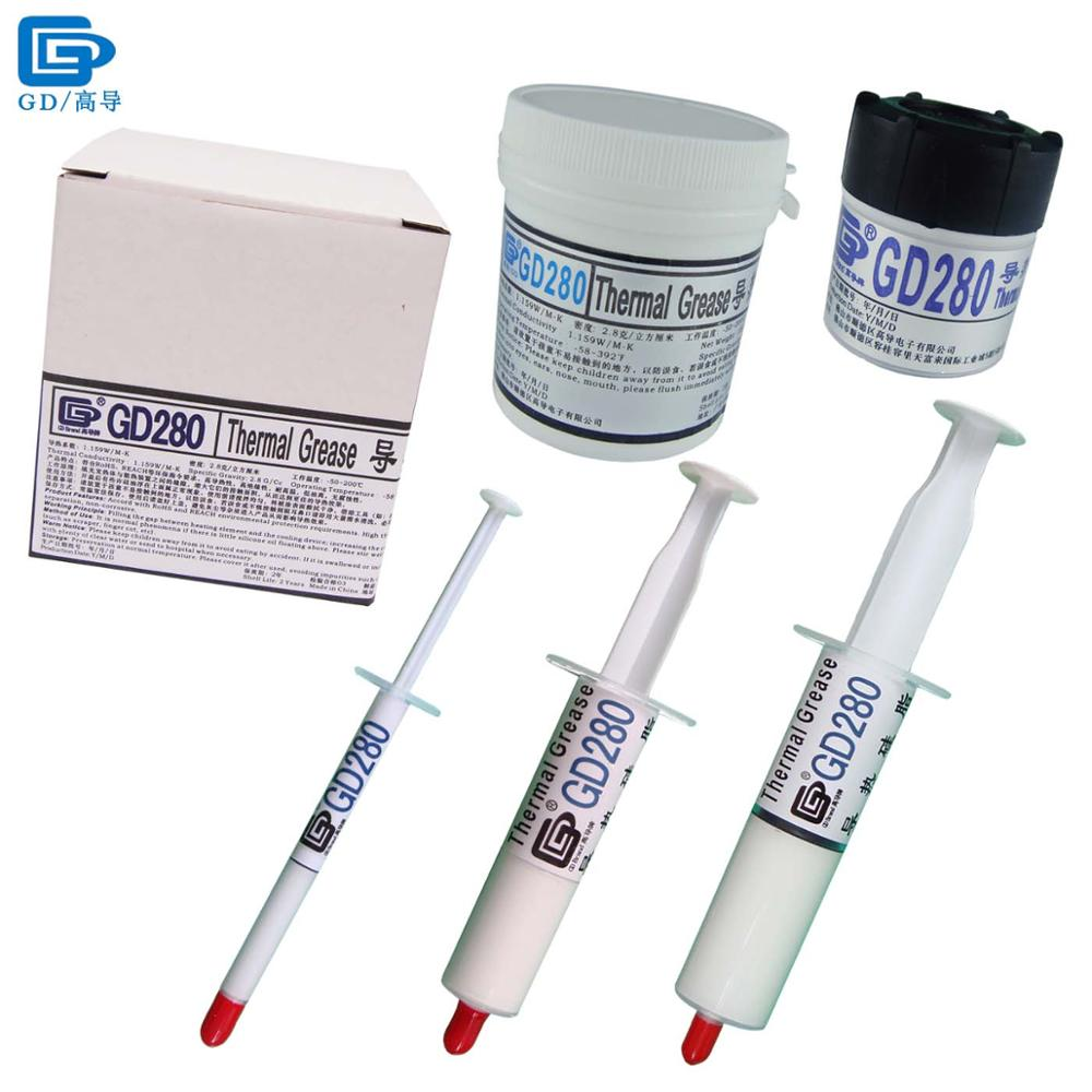 Net Weight 1/15/<font><b>30</b></font>/150/1000 Grams GD280 Thermal Conductive Grease Paste Plaster Heat Sink Compound for CPU LED GPU SY CN image