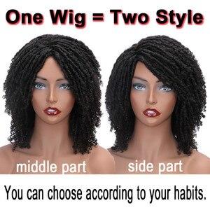 Image 2 - Pelucas sintéticas cortas y suaves para mujeres negras, elegante MUSES, fibra de alta temperatura, Dreadlock, degradado, Burg, cabello trenzado de ganchillo
