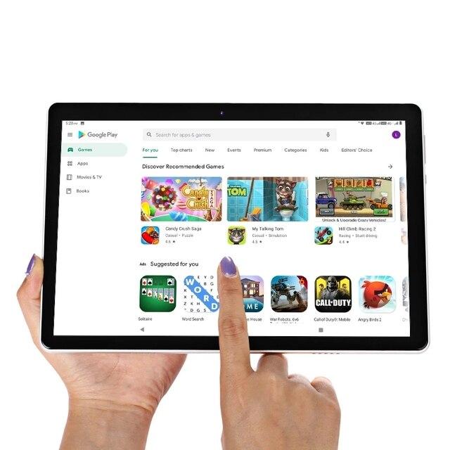 10.1 inch Tablets 3G Phone Call System 9.0 Octa Core 4GB+64GB ROM Bluetooth 4.0 Wi-Fi 2.5D Steel Screen Tablet PC+Keyboard 3