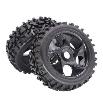 1/8 Rc Universal Remote Control Car Off-Road Vehicle Climbing Car Tire Tire Wheel Modification Upgrade Accessories 118Mm
