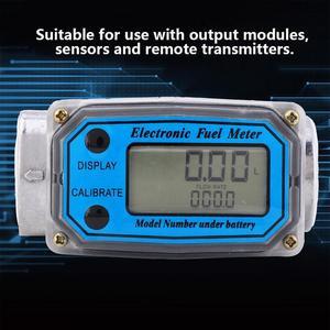 Image 5 - Ferramentas líquidas da medida do fluxo de água do contador do sensor do indicador do npt do verificador de combustível 15 120l da turbina digital para o fluxo de combustível