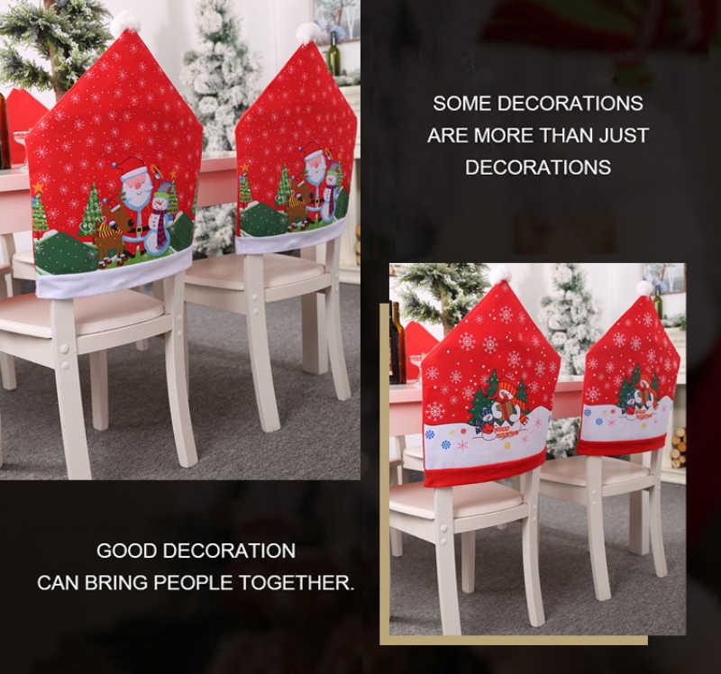 Cadeira Conjunto Tampa Da Cadeira Imprimir Velho Boneco de Neve Enfeite de natal Do Floco De Neve Cadeira Conjunto Fezes Casa de Banquetes Do Hotel Decoração Da Cozinha