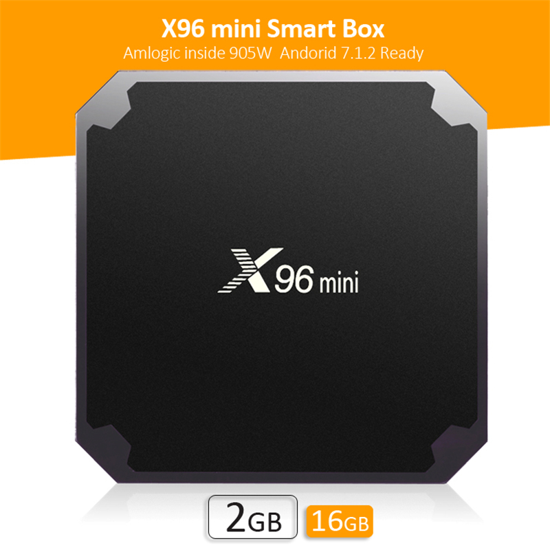 ILEPO X96 Mini Android 7.1 Smart TV Box 2GB 16B Amlogic S905W Quad Core 1GB 8GB H.265 WiFi 2.4GHz LAN 100M X96mini décodeur