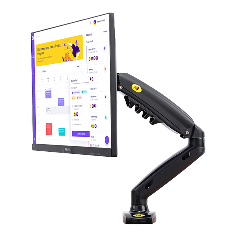 "New NB F80 Load 2-9kgs Desktop Gas Spring 17-27"" LCD LED Monitor Holder Arm  Full Motion Gas Strut Flexi Monitor Mount Support"