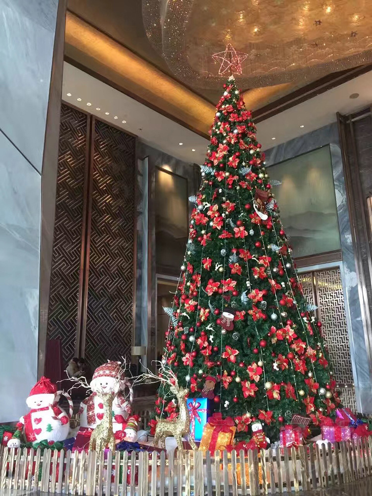 Christmas Decorations Christmas Large Steel Frame Christmas Tree Frame Hotel Shopping Mall Outdoor Christmas Scene Decoration