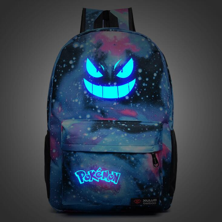 Backpack Luminous School Bags For Teenage Girls Boys Travel Rucksack Kids Daily Book Bags Pokemon Go Glowing School Bag