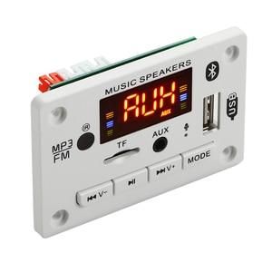 ARuiMei Microphone Handsfree 5v-12v Bluetooth5.0 MP3 Decoding Board Module Wireless Car USB MP3 Player TF Card Slot / USB / FM