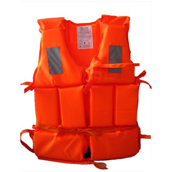 〖 Large Size Life Jacket 〗 Check Bureau Certification Four Reflector Straps And Whistle Special Offer