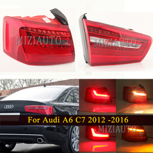 цена на Outer/ Inner Side Rear Tail light For Audi A6 C7 2012 2013 2014 2015 2016 Tail Stop Turn signal Lamp Brake Fog lights Assembly