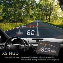 OHANEE – système davertissement de survitesse X5, écran tête haute HUD OBD II, pare brise de projecteur, alarme de tension électronique pour voiture