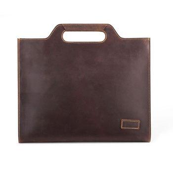Men's Leather Handbags Shoulder Messenger Bag Business Briefcase Tote Laptop Top Handle Bags